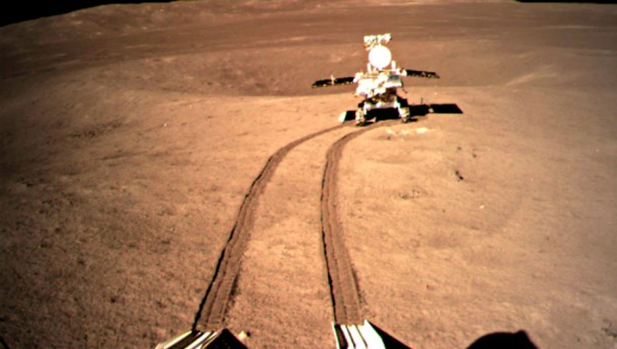 China's lunar rover on the dark side of the Moon on Jan. 11