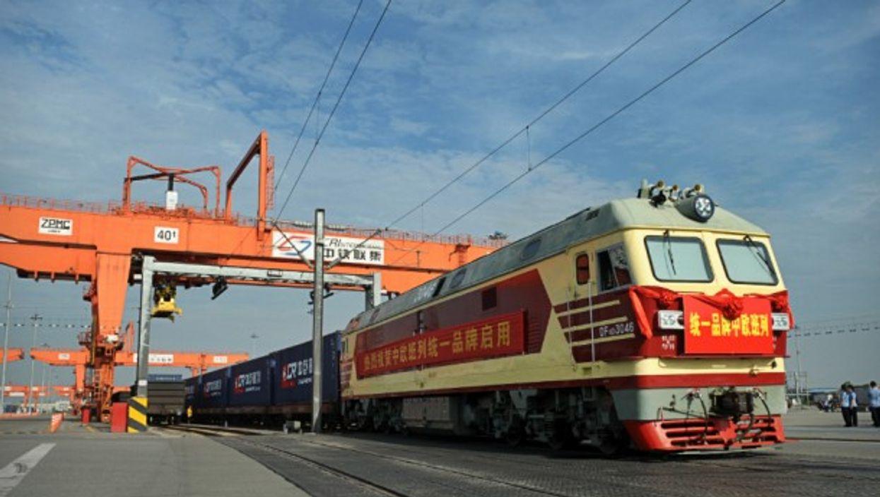 China-to-Europe cargo train in Chengdu