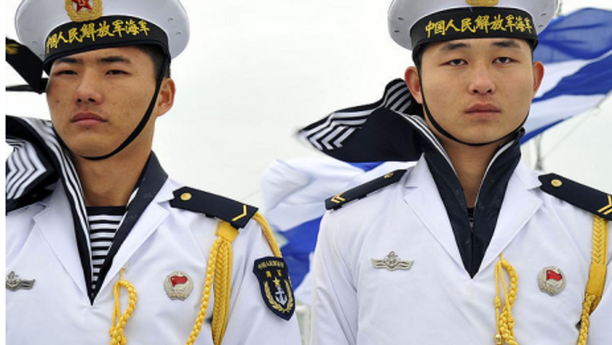 Chinese navy sailors