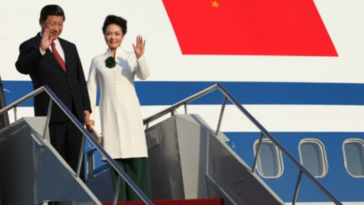 Chinese President Xi Jinping and his wife Peng Liyuan in 2013