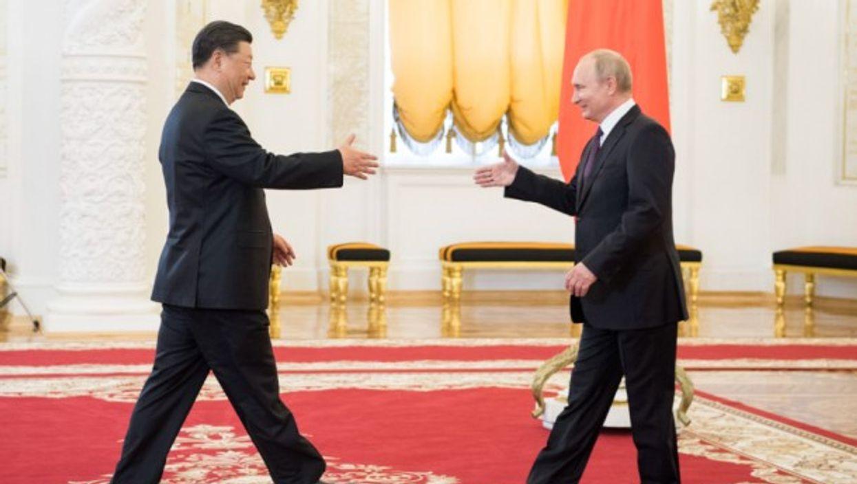 Chinese President Xi Jinping and Russian President Vladimir Putin in Beijing, China, on Jan. 5, 2020.
