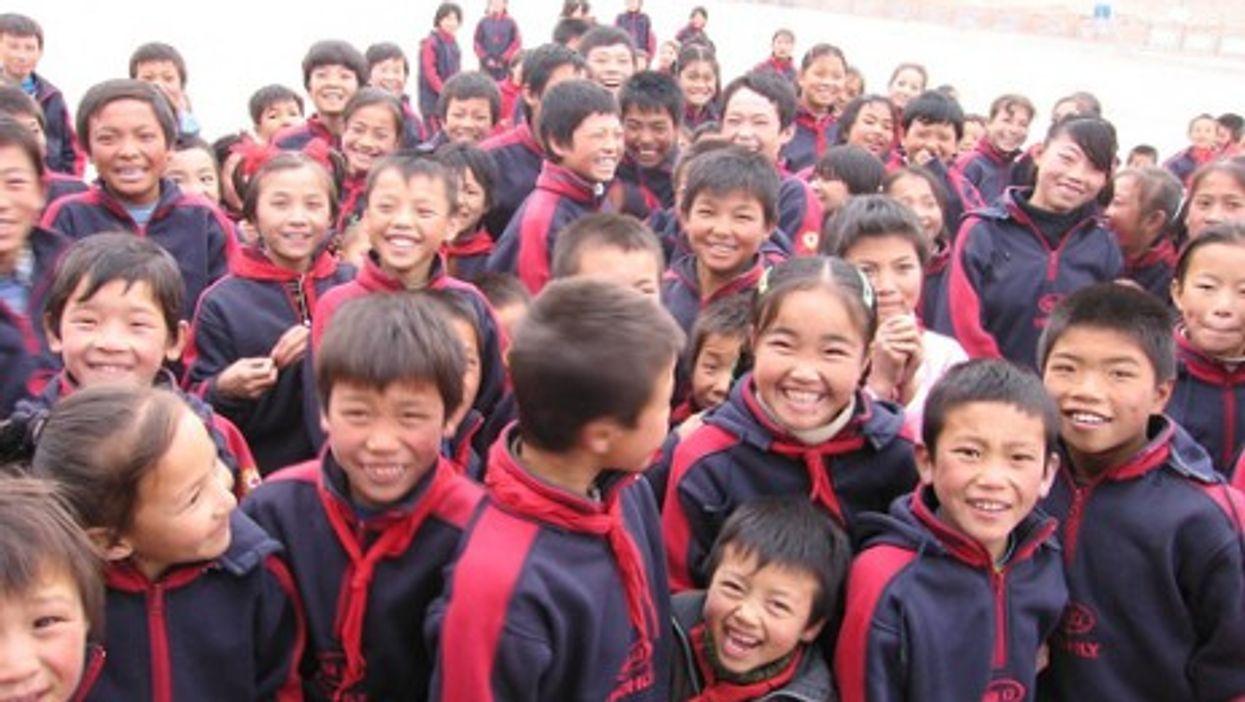 Chinese schoolchildren (OpenDemocracy)