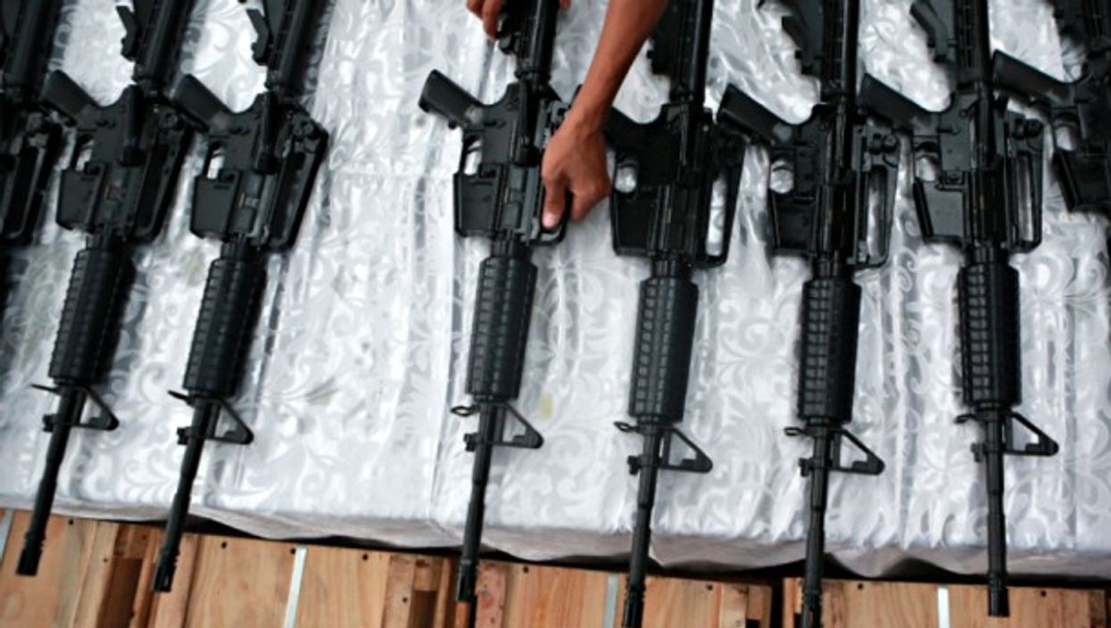 Chinese weapons in Manila on Oct. 5