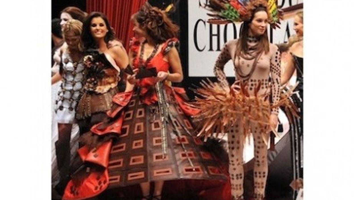 Chocolate fashion on the catwalk (Salon du Chocolat)