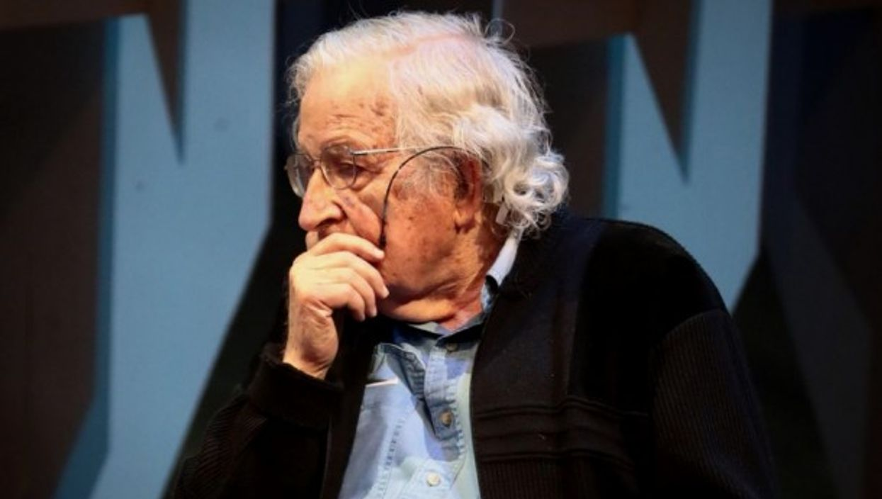 Chomsky in 2017 in Mexico City