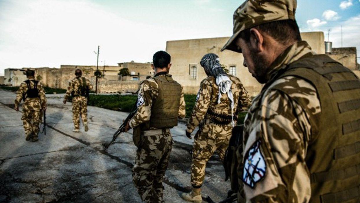 Christian soldiers in Mosul, Iraq.