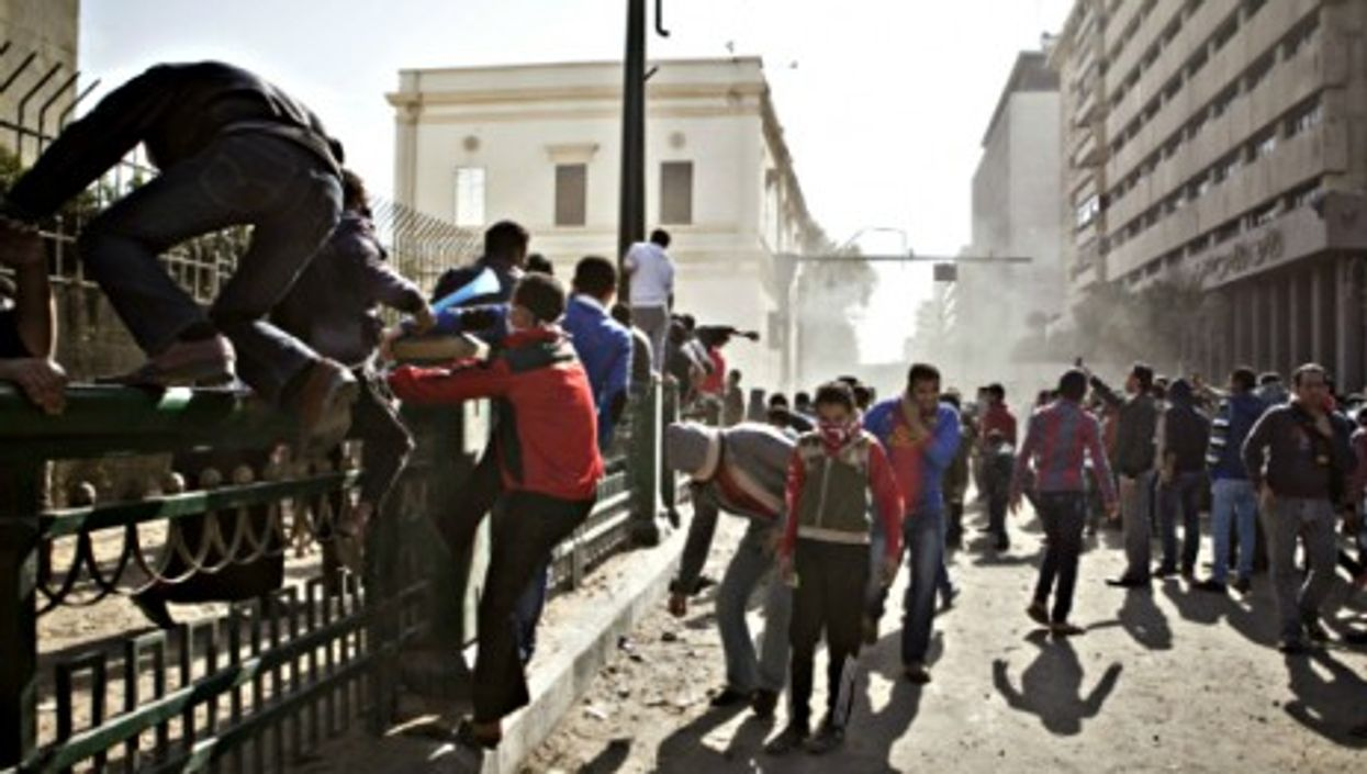 Clashes in a Cairo street near Tahrir Square on Jan. 25, 2013