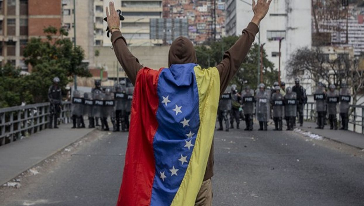 Clashes in Caracas on Jan. 23