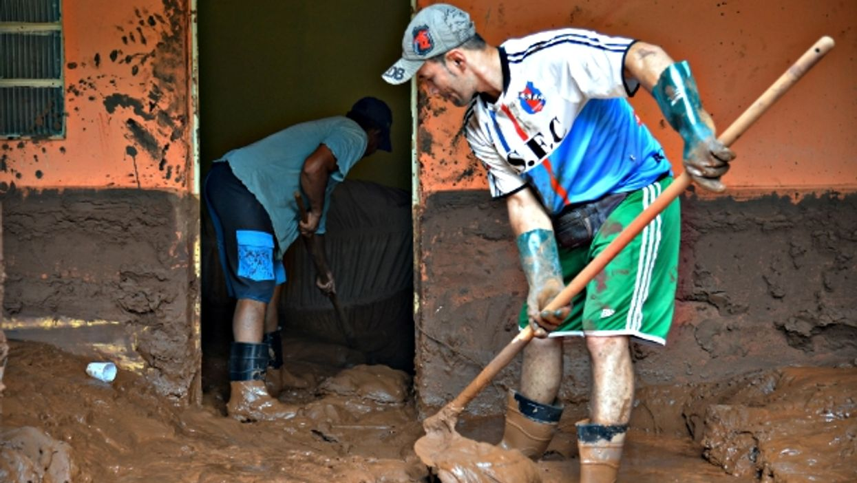 Cleaning up toxic mud in Mariana one year ago