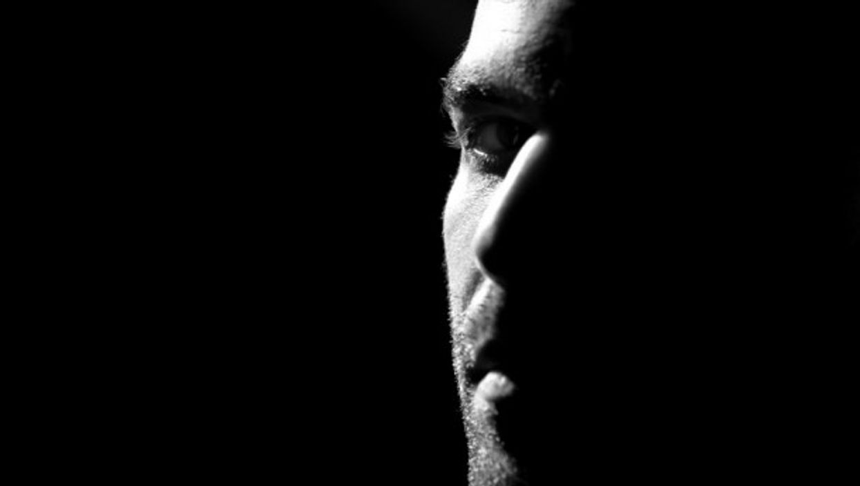 Close up portrait of Roberto Saviano, during the rehearsals of Quello che (non) in Milan in May 2012