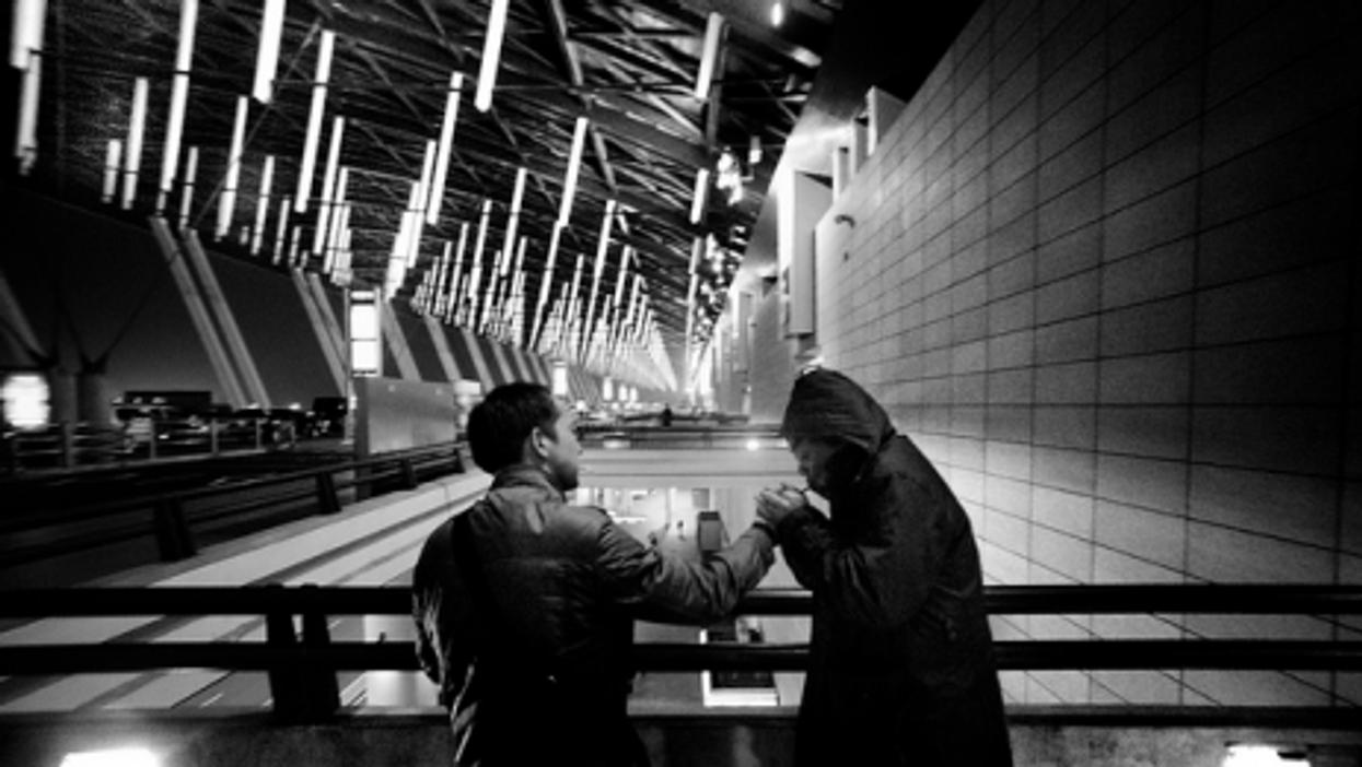Cold night at Shanghai airport