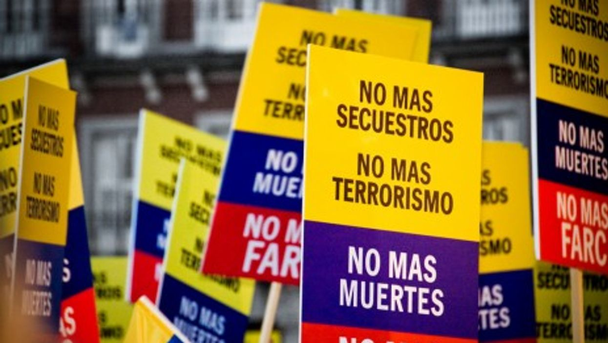 Colombian Protesters Taking The Streets  Voicing Anger Against The FARC