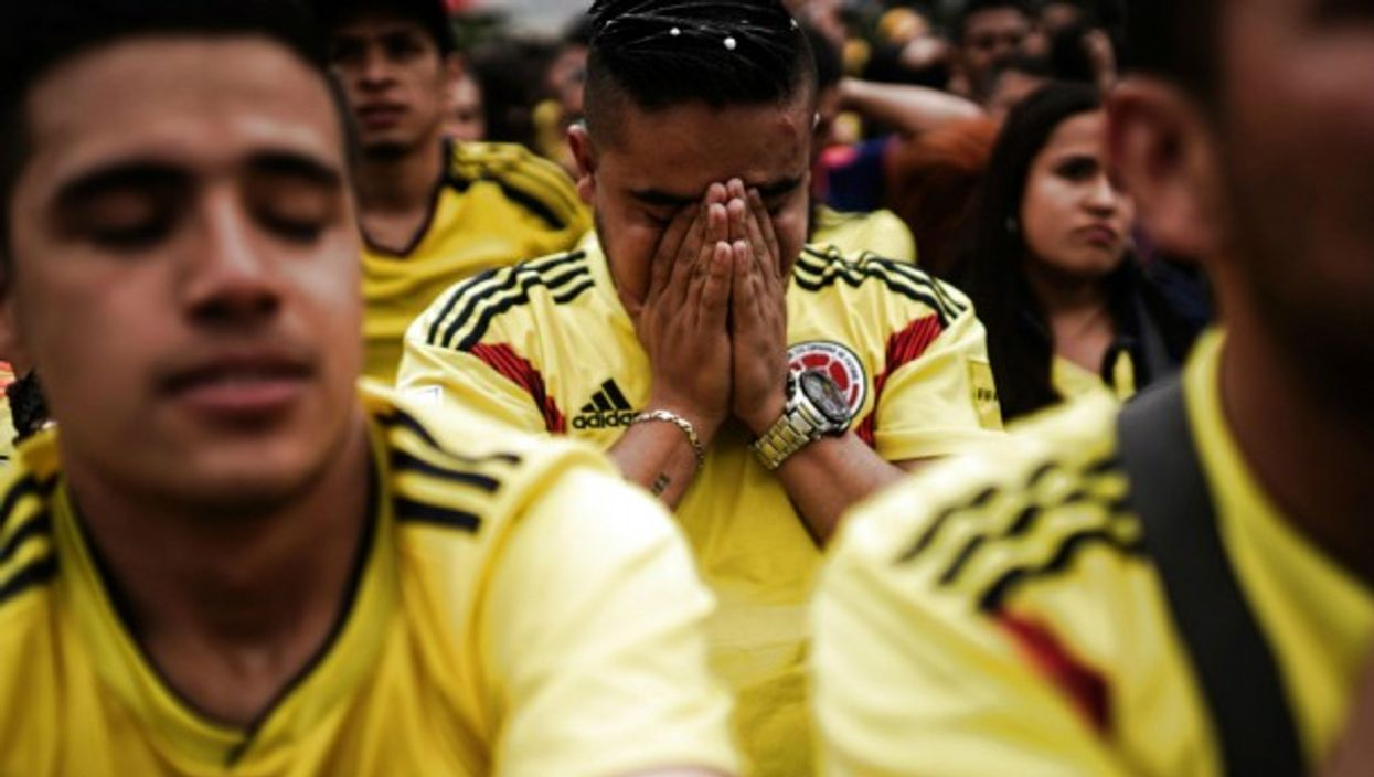 Colombian soccer fans after their team's July 3 defeat