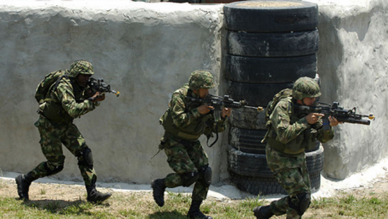 Colombian special forces troops in training