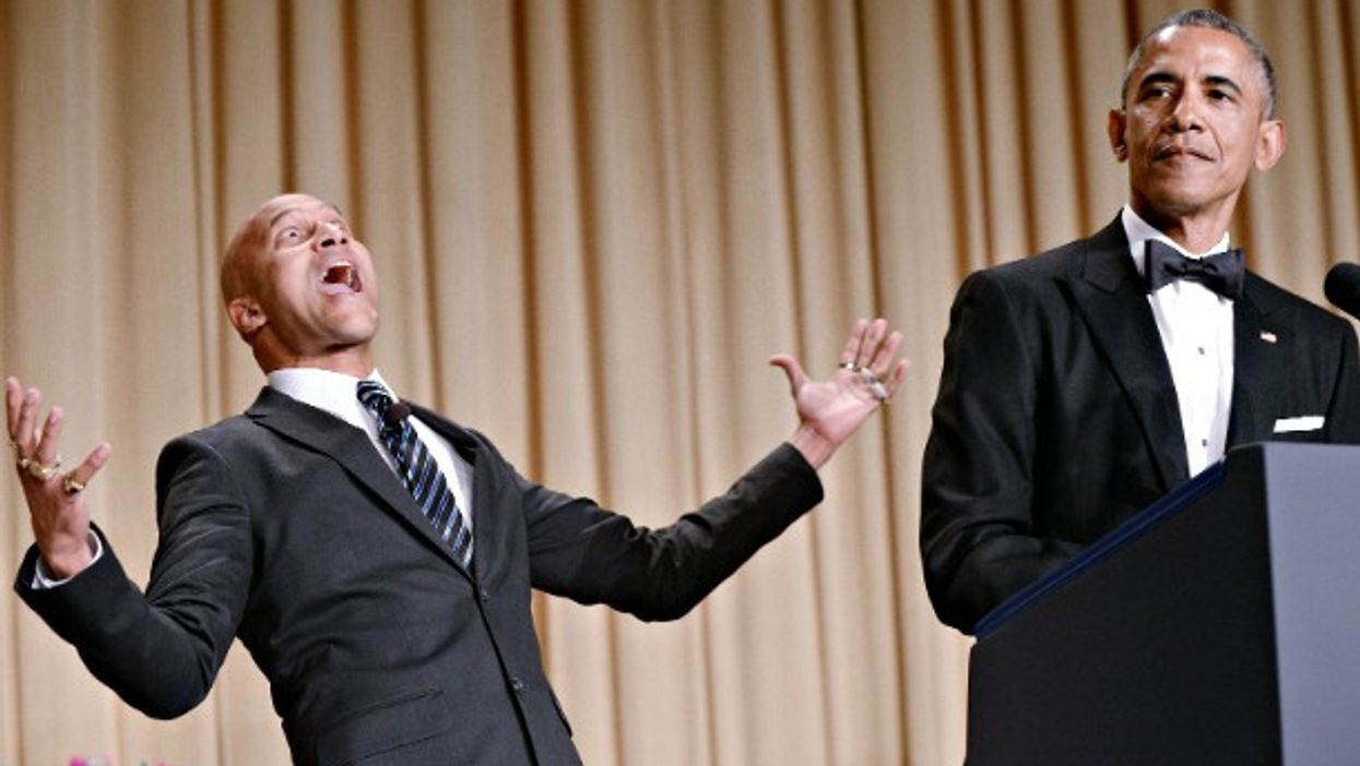 Comedian Keegan-Michael Key and U.S. President Barack Obama