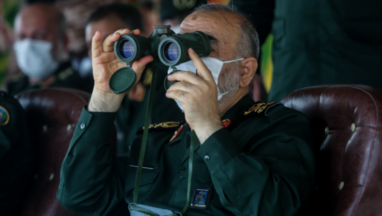 Commander-in-chief of the Islamic Revolutionary Guard Corps Hossein Salami in Iran on July 29