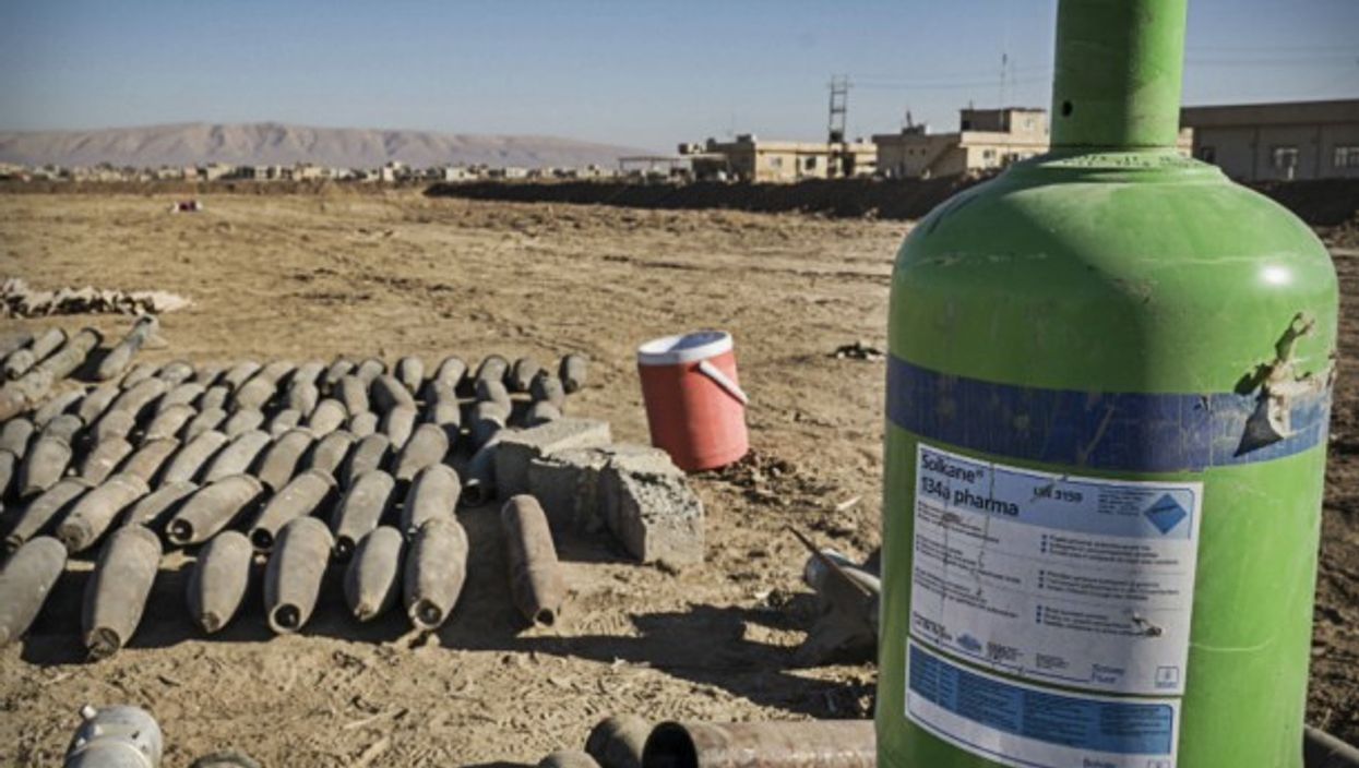 Confiscated ISIS chemical weapons