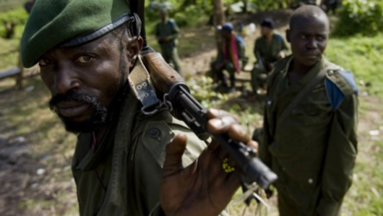 Congolese soldiers near Goma