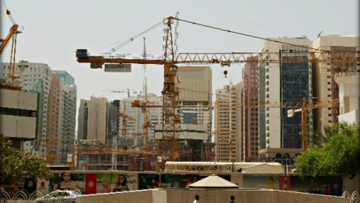 Construction site in Abu Dhabi