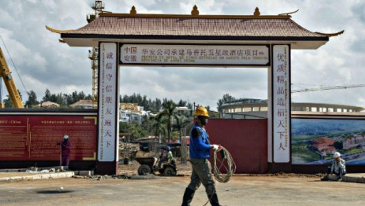 Construction site in Maputo, Mozambique