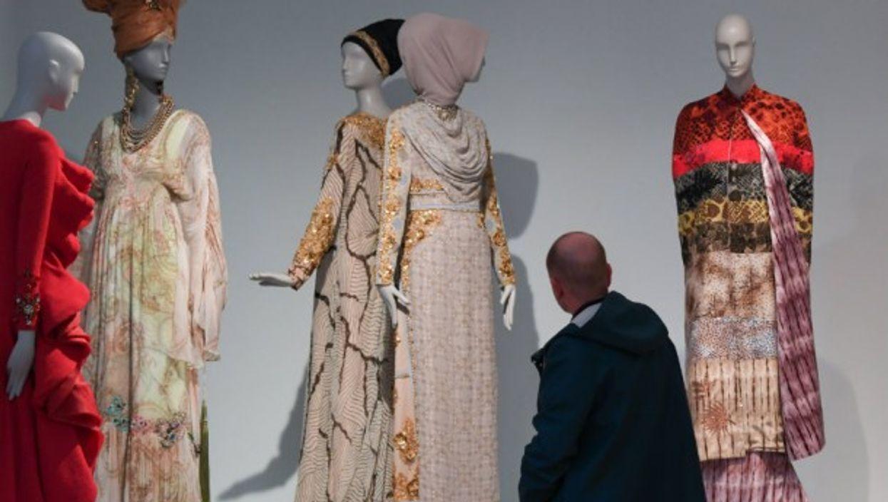 ''Contemporary Muslim Fashions'' Exhibit at the Museum Angewandte Kunst in Frankfurt.