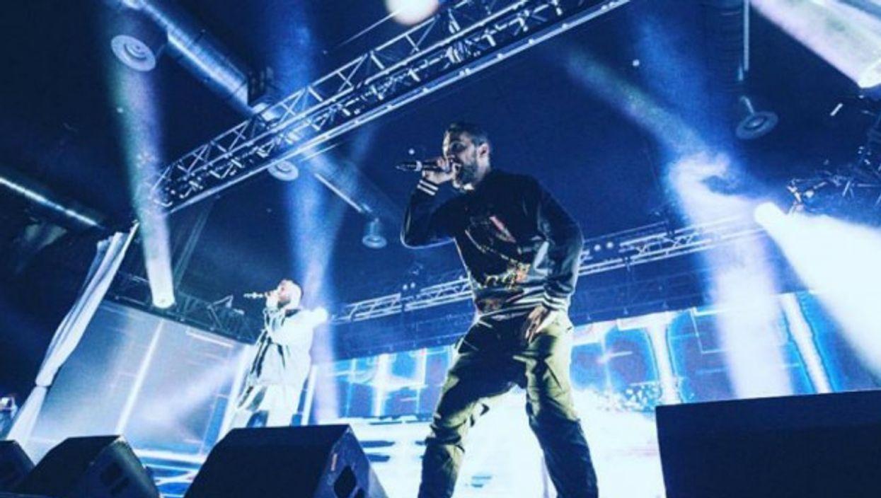 Controversial German rappers Bushido performing