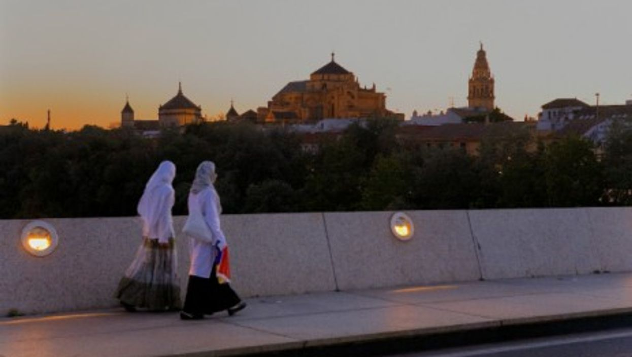 Cordoba's Mosque-Cathedral seen from the Miraflores Bridge