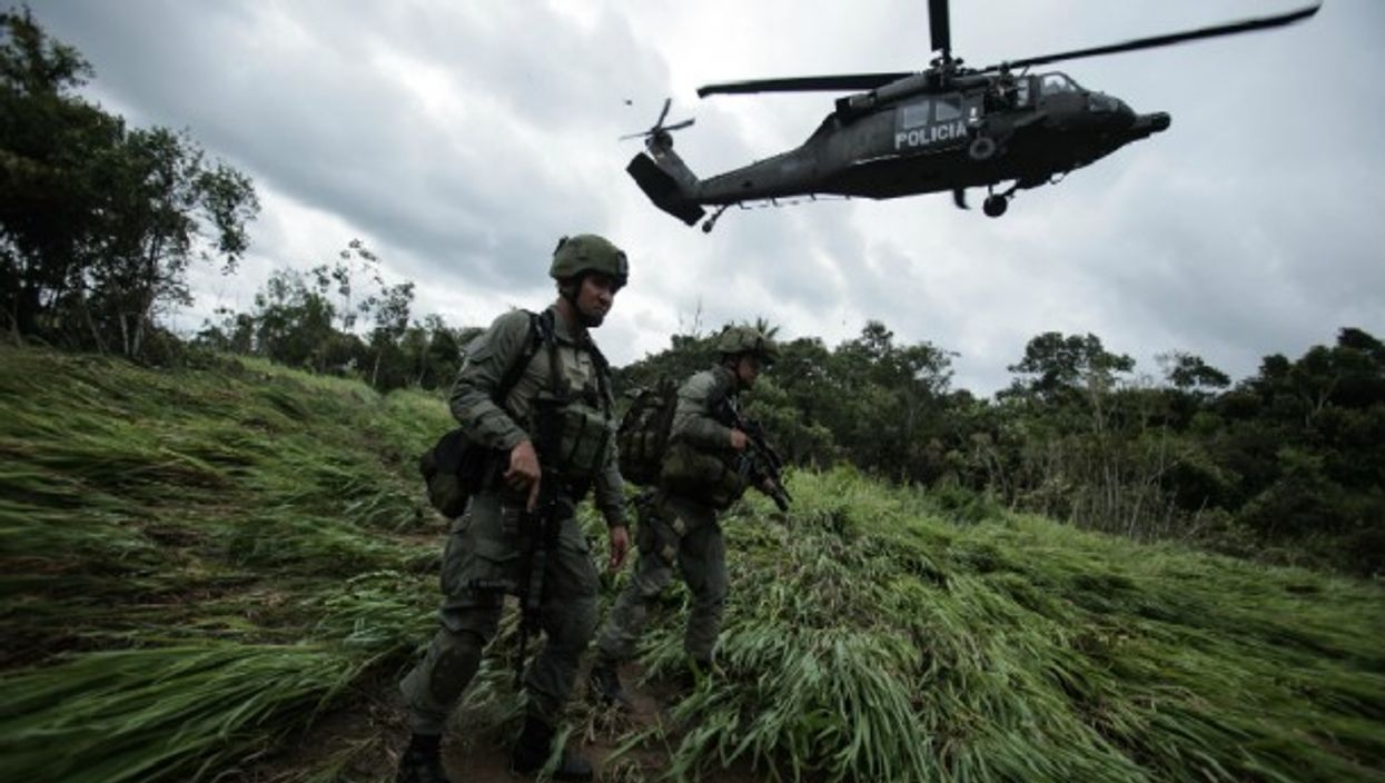 Counter-narcotics Police Raid in Colombia