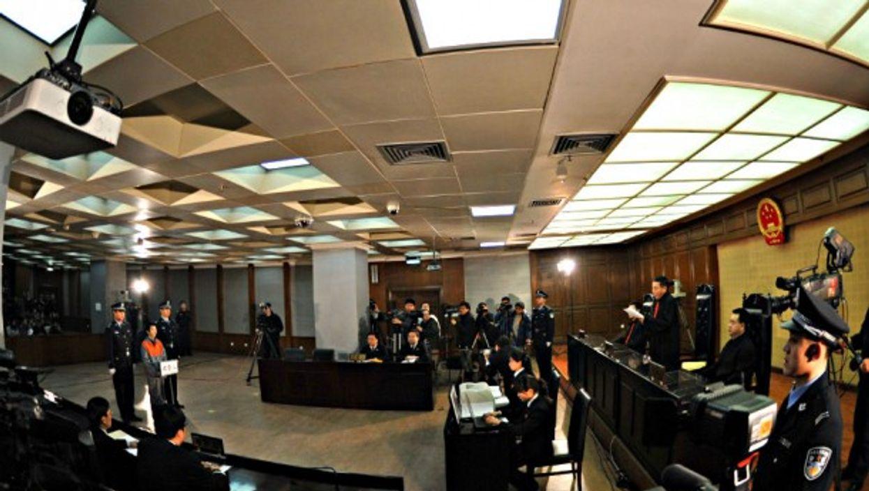 Courtroom scene, China