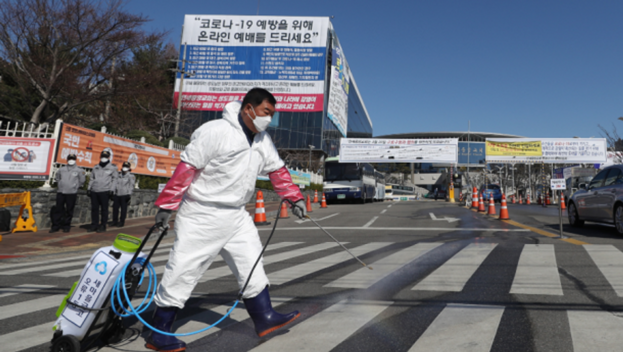 COVID disinfecting in Seoul