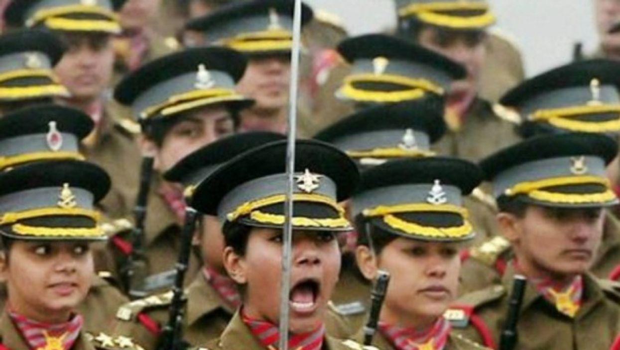 Cpt. Divya Ajith Kumar and her regiment
