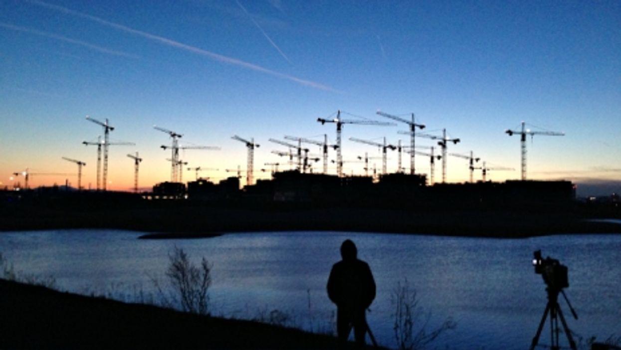 Cranes in Aspern, Austria