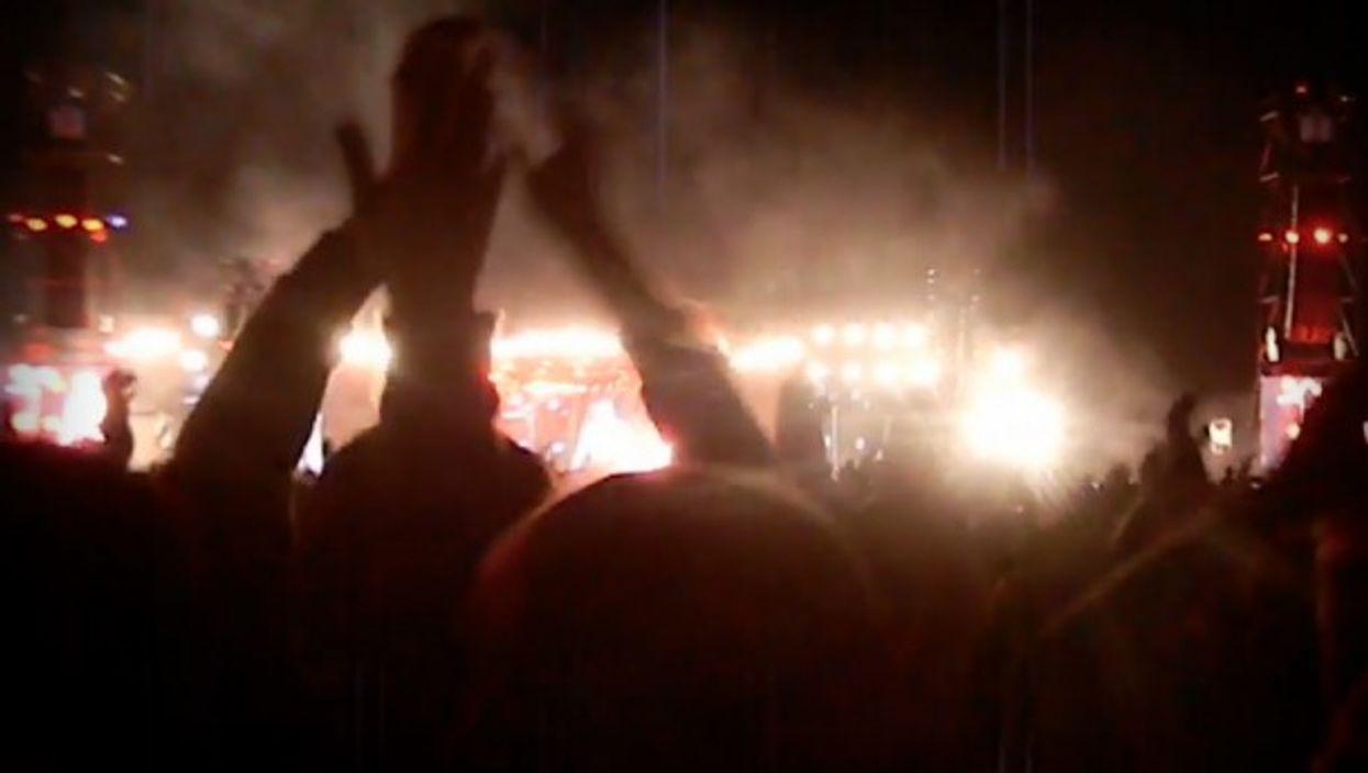 Crowd at Indio Solari's Olavarria concert on March 11