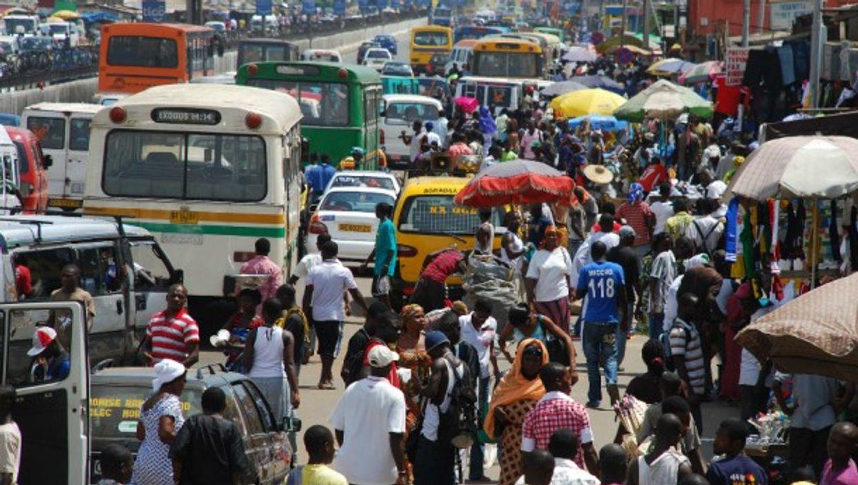 Crowded in Ghana