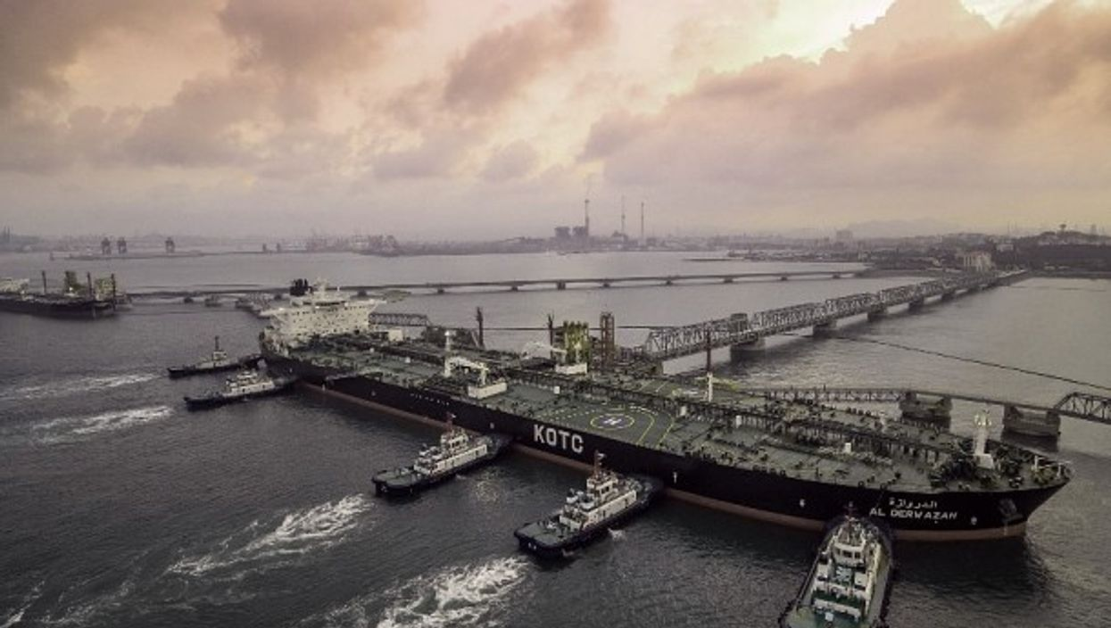 Crude oil tanker in Shandong, China last year