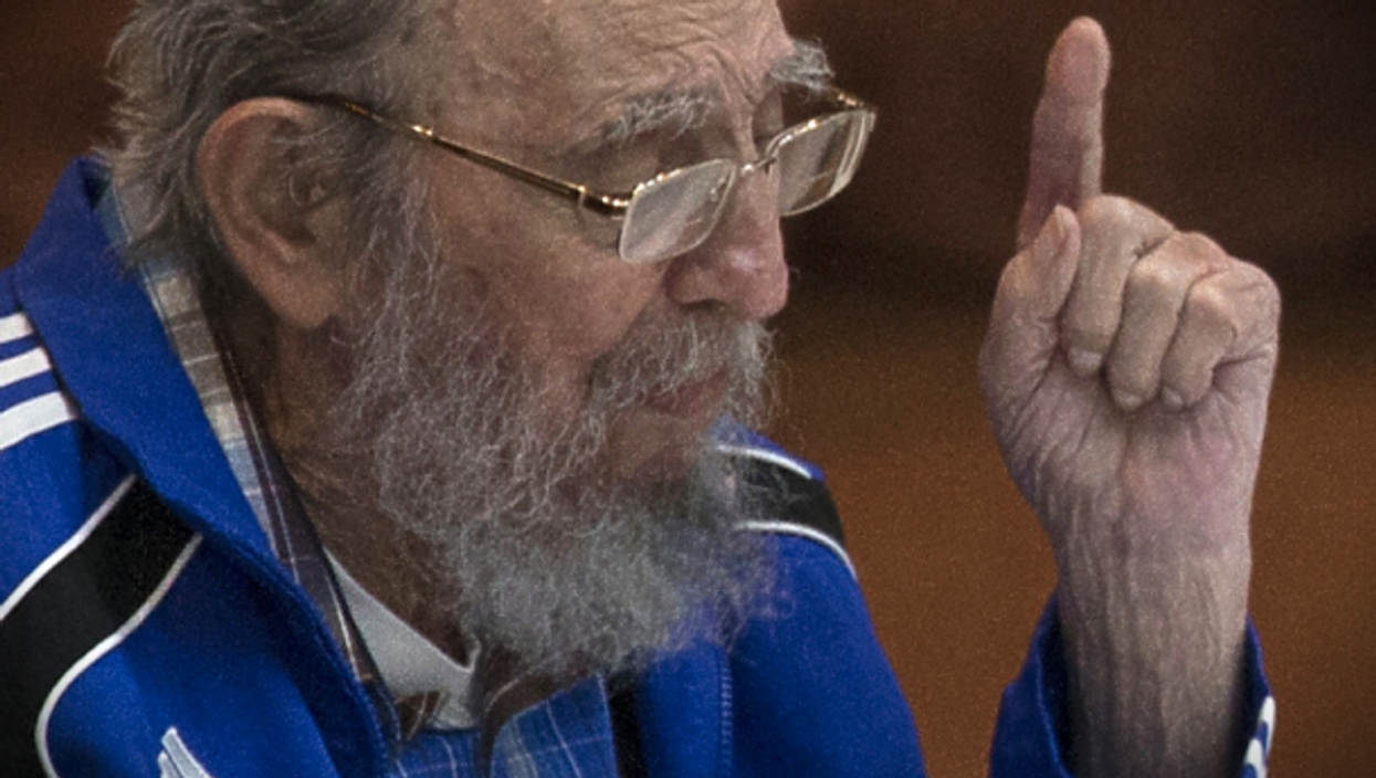 Cuba's Fidel Castro used to rock the three stripes