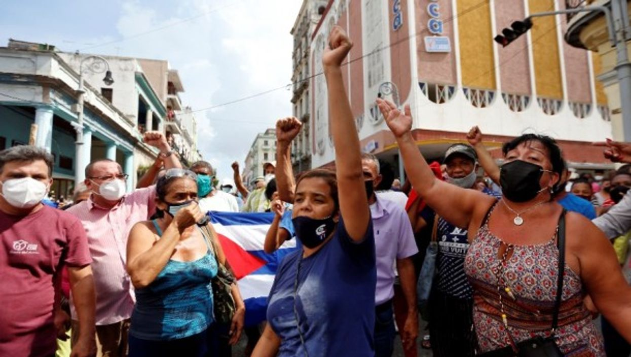 Cubans of all stripes took to this street this week