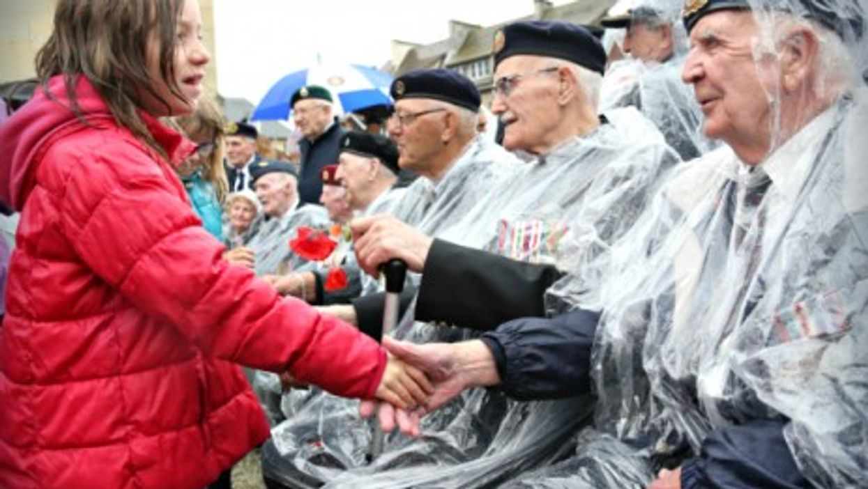 D-Day celebrations in Thury-Harcourt, Normandy, on June 4, 2014.