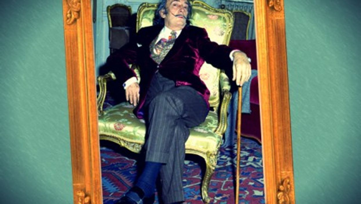 Dali in his suite at the Hotel Maurice in Paris