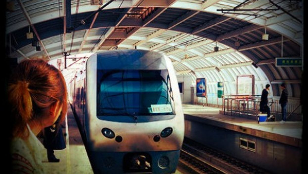 Dalian Railway Station in northeastern China