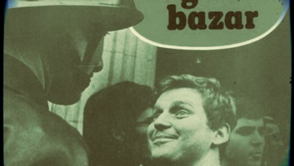 """Daniel Cohn-Bendit on the cover of his 1975 book """"The Great Bazaar."""" Shocking experts are resurfacing now."""