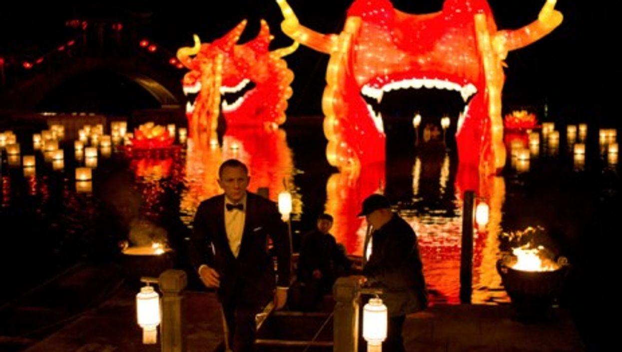 "Daniel Craig in ""Skyfall"", the latest installment of the James Bond franchise"