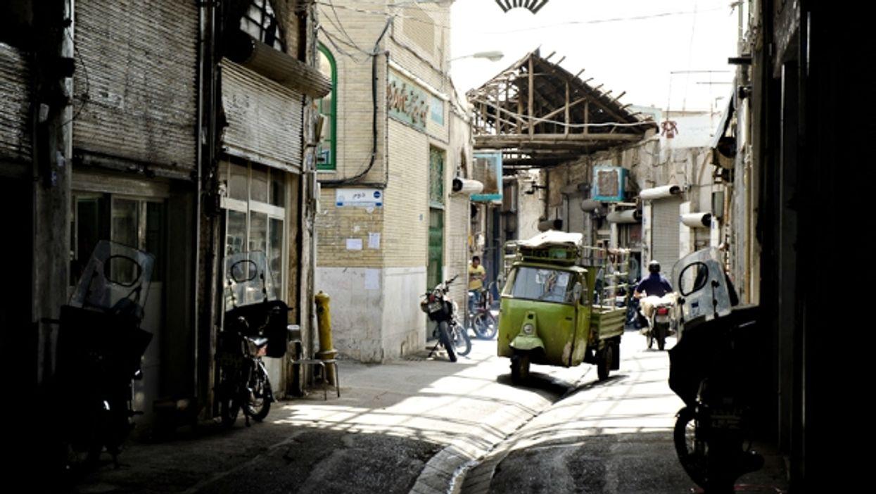 Dark alley in Tehran, Iran