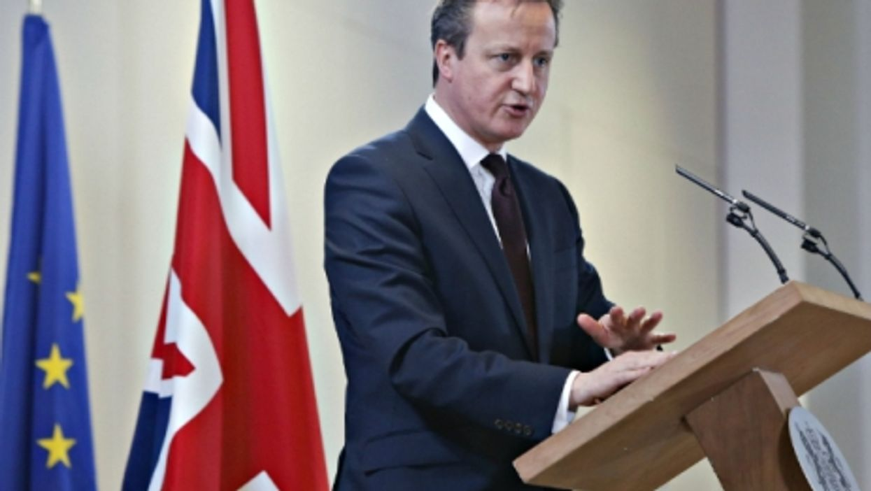David Cameron at the European Union headquarters in Brussels
