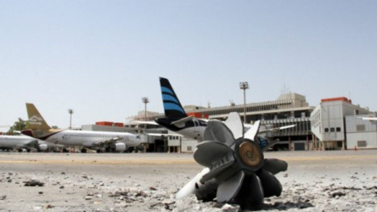 Debris from combat last month at Tripoli airport