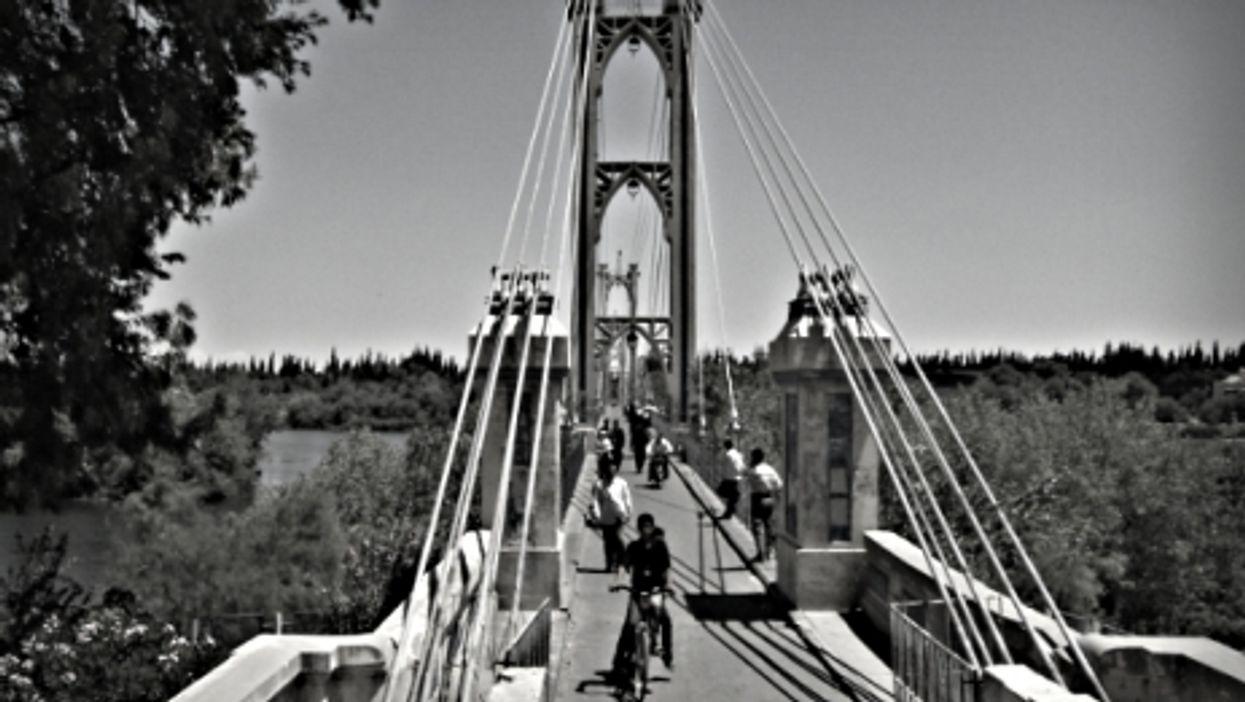 Deir ez-Zor's suspension bridge