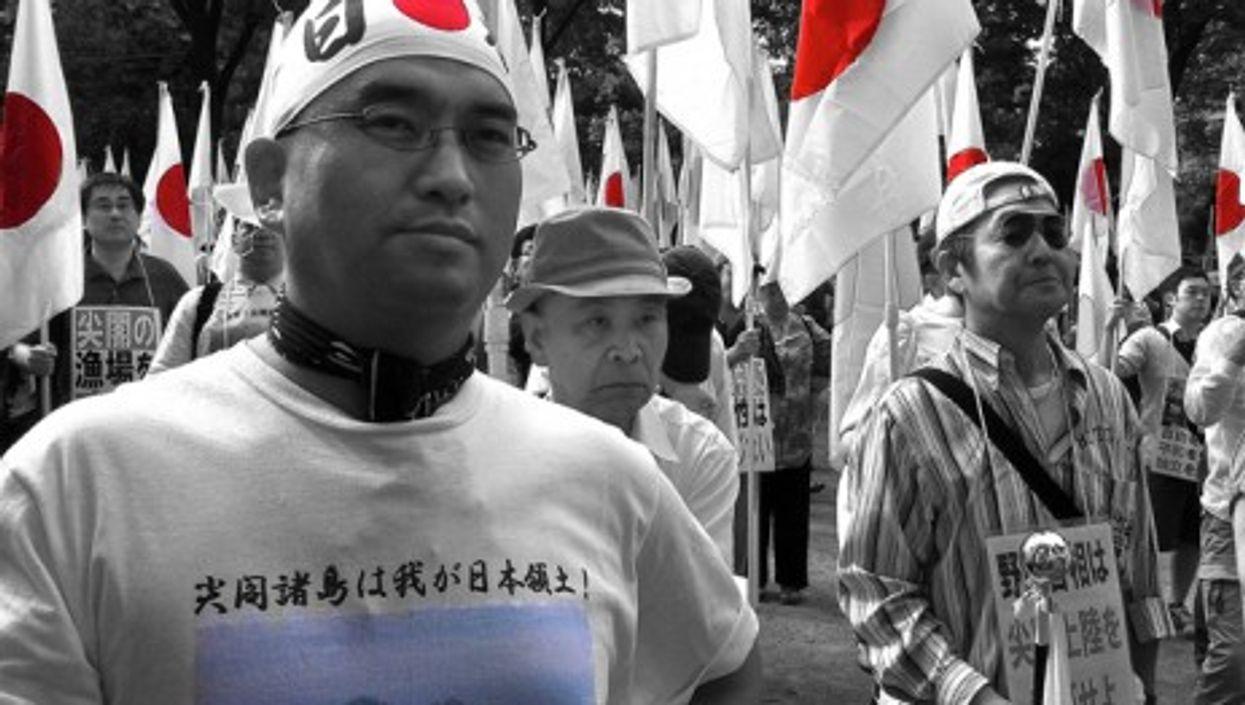 Demonstrators in Tokyo in September 2012