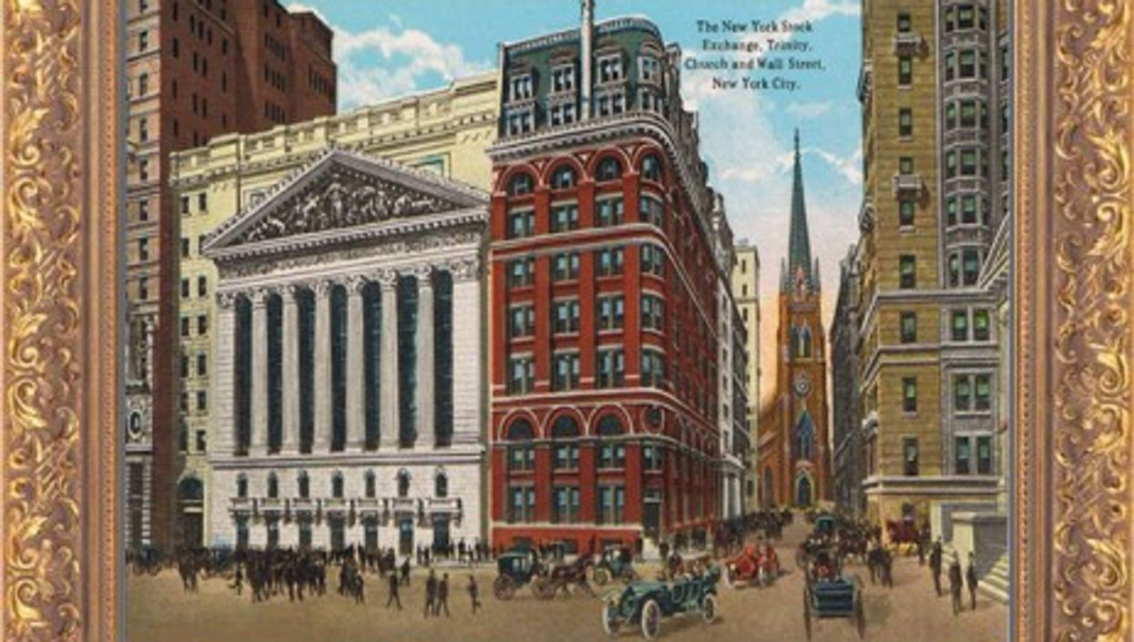 Depiction of the New York Stock Exchange, 1909 (Moses King)