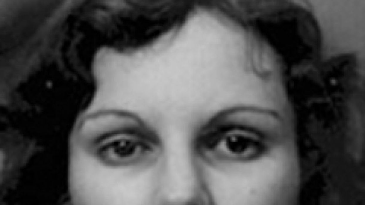 Detail from Patricia Hearst's mugshot