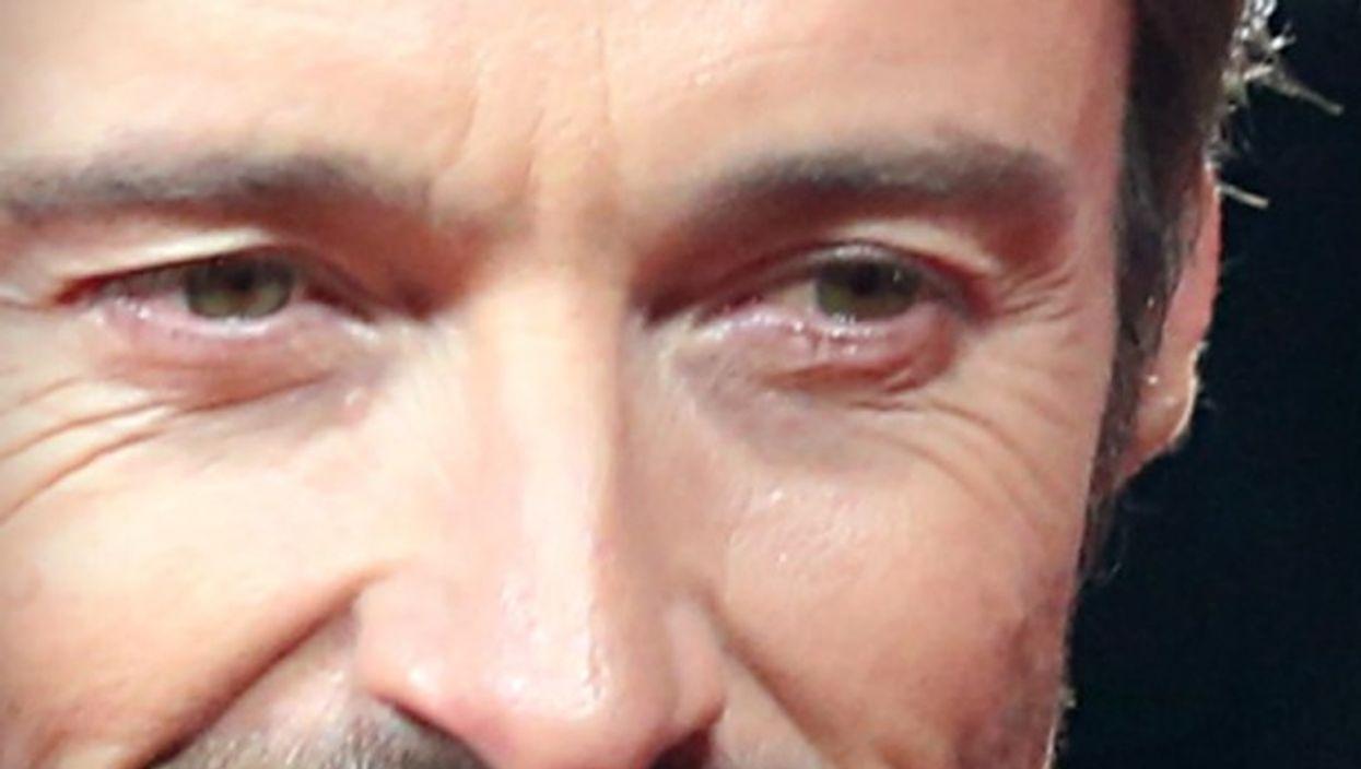 Detail of photograph of Hugh Jackman